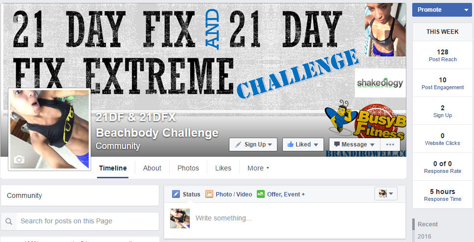 21 Day Fix Extreme Challenge group