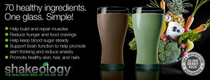 what ingredients are in shakeology